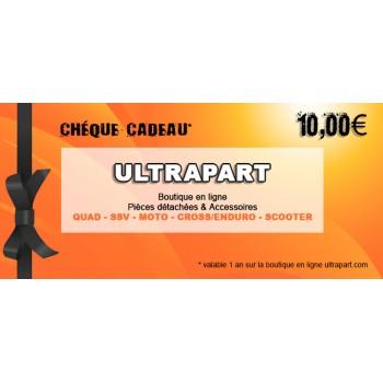 Chèque Cadeau 10€ Ultrapart