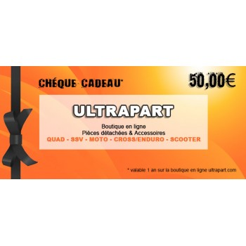 Chèque Cadeau 50€ Ultrapart