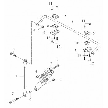 Rotule Barre Anti Roullie