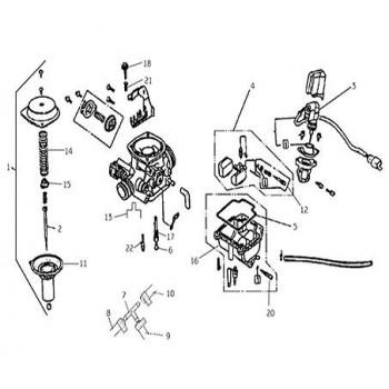 Membrane/Boisseau Carburateur