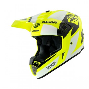 Casque Track Kenny White Neon Yellow