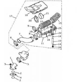 Filtre à Air mousse Origine - Hytrack - HY265 - HY 290 - HY 300 - HY 310 - HY 320 - HY 400 - HY 420