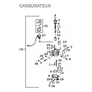 Carburateur Origine 50 MXU