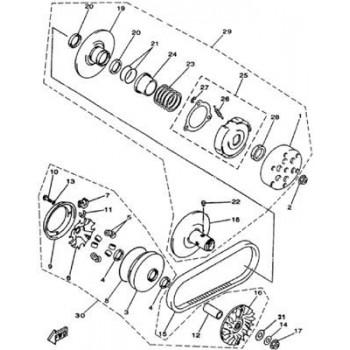 JEU DE 8 GALETS DE VARIATEUR - Hytrack - HY420
