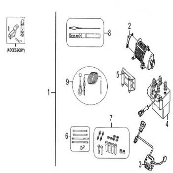 CABLE ELECTRIQUE DE TREUIL - Kymco - 500 MXU DX IRS