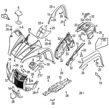 Elargisseur Avant Droit 500 MXU DX IRS