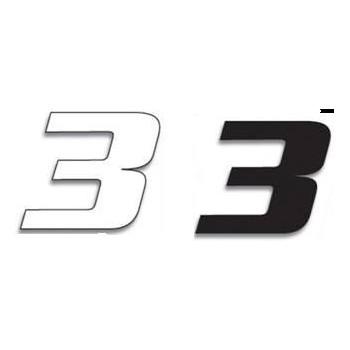 Chiffre Autocollant - Blackbird Racing - Numero de Course 3