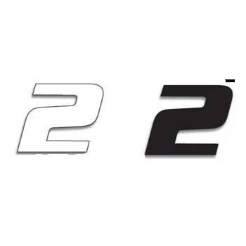 Chiffre Autocollant - Blackbird Racing - Numero de Course 2