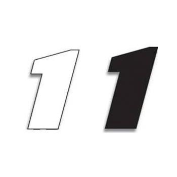 Chiffre Autocollant - Blackbird Racing - Numero de Course 1