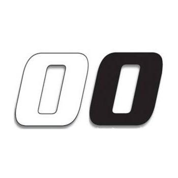 Chiffre Autocollant - Blackbird Racing - Numero de Course 0
