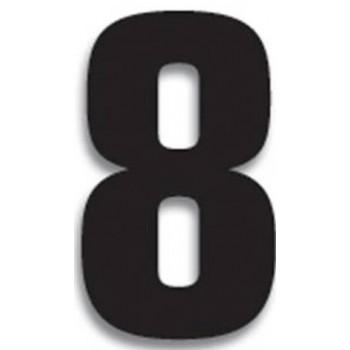 Chiffre Autocollant - Blackbird Racing - Numero de Course 8