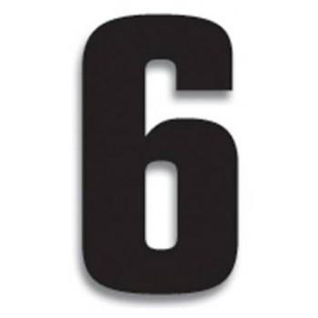 Chiffre Autocollant - Blackbird Racing - Numero de Course 6