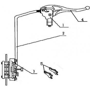 LEVIER FREIN DROIT - Hytrack - Hytrack HY310