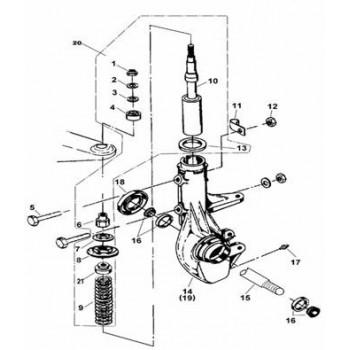 RESSORT SUSPENSION AVANT - Hytrack - Hytrack HY310