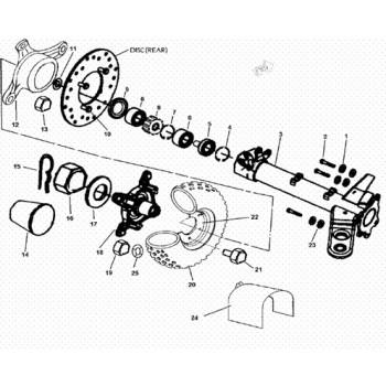 MOYEU ROUE ARRIERE - Hytrack - Hytrack HY310