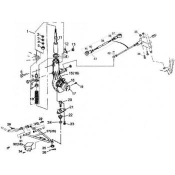 ROTULE FILETAGE A GAUCHE - Hytrack - Hytrack HY420