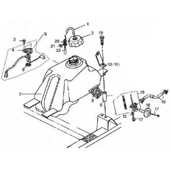 BOUCHON DE RESERVOIR ESSENCE - Hytrack - Hytrack HY420