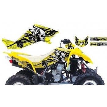 Kit Déco ''Tribal Skull 2'' Graphic Jaune - BlackBird - Suzuki LTZ 400