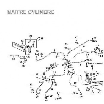 LEVIER DE FREIN GAUCHE - Kymco 500 MXU