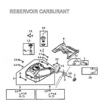 RESERVOIR A CARBURANT - Kymco 500 MXU