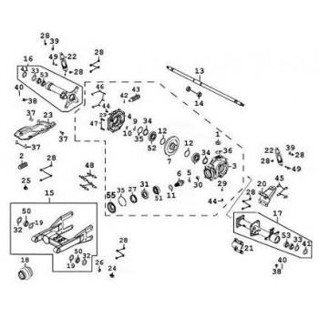 ARBRE DE ROUE ARRIERE M18 - Kymco 500 MXU