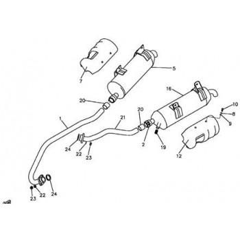 TUBE ECHAPPEMENT COURT - Hytrack - HY550 4x4
