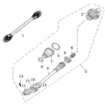 ENSEMBLE CARDAN ARRIERE - Hytrack - HY550 4x4