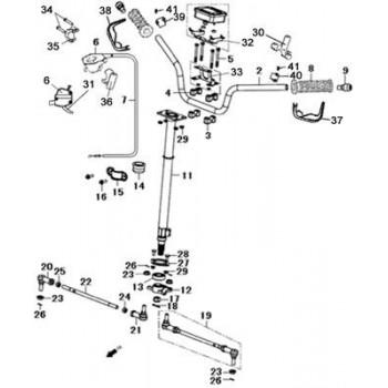 AXE DE BIELLETTE DE DIRECTION - Hytrack - HY550 4x4