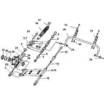 ENS TRIANGLE ARR GAUCHE INF - Hytrack - HY550 4x4