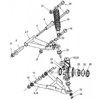 PIVOT GAUCHE - Hytrack - HY550 4x4