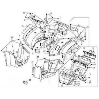 GARDE BOUE ARR GAUCHE - CARENAGE - Hytrack - HY550 4x4
