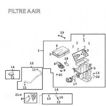 BOITE A AIR COMPLETE - Kymco 500 MXU
