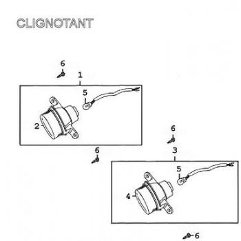 CLIGNOTANT AVANT DROIT - Kymco 500 MXU