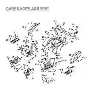 ELARGISSEUR ARRIERE GAUCHE - Kymco 500 MXU