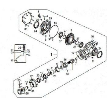PONT ARRIERE ASSEMBLE 2X4 - Kymco 450 Maxxer