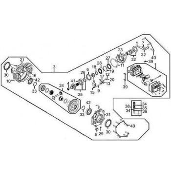 DIFFERENTIEL COMPLET - Kymco 450 Maxxer
