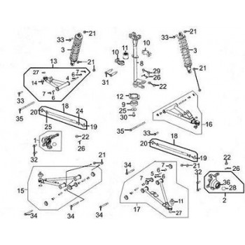 BRAS DE SUSPENSION INFERIEUR AVANT GAUCHE - Kymco 450 Maxxer