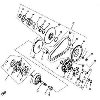 FLASQUE DE POULIE GAUCHE - Hytrack - HY550 EFI