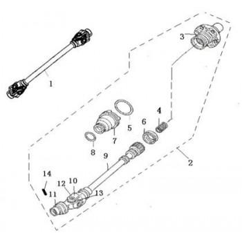 ENSEMBLE CARDAN ARRIERE- Hytrack - HY550 EFI