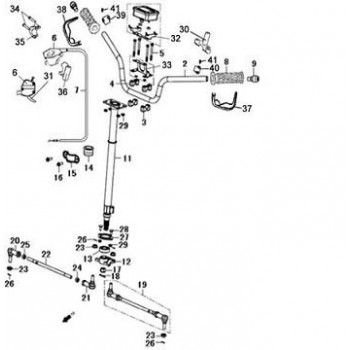 ROTULE GAUCHE- Hytrack - HY550 EFI