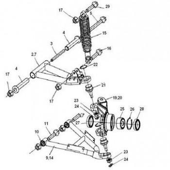 TRIANGLE AVANT GAUCHE INF - Hytrack - HY550 EFI
