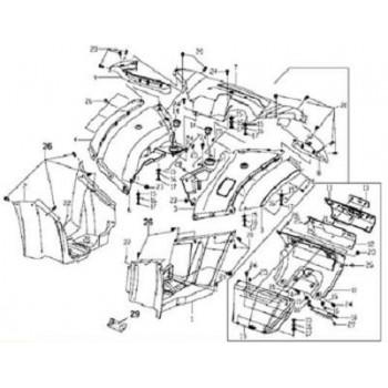 CARROSSERIE ARRIERE - CARENAGE - Hytrack - HY550 EFI