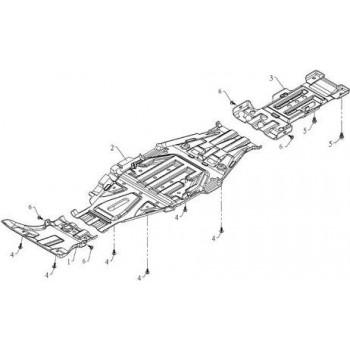 PLAQUE DE PROTECTION CENTRALE - Hytrack HY590 4x4