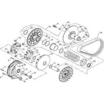 Demie-Poulie Embrayage Fixe Hytrack HY590 4x4